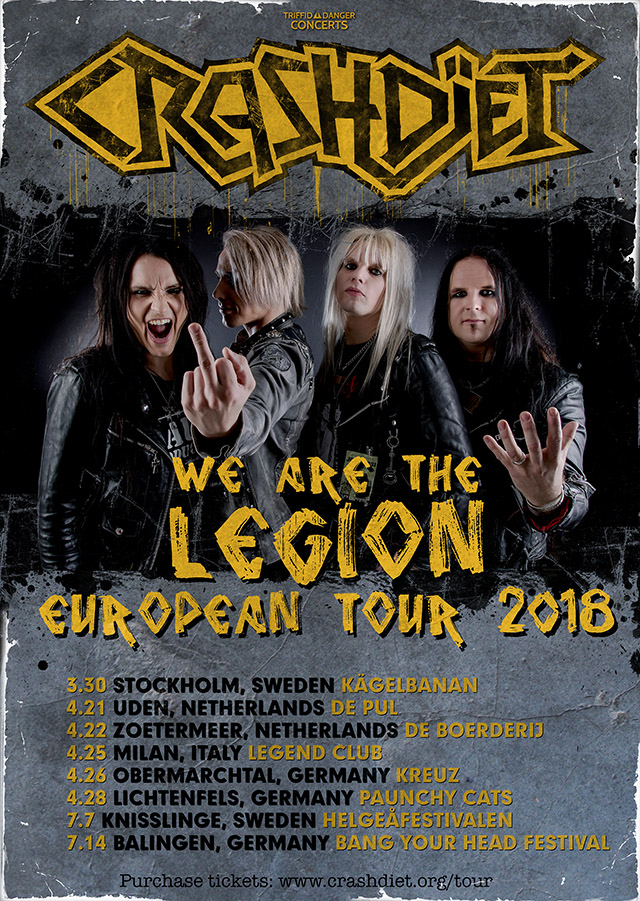 crashdiet tour 2018 europe