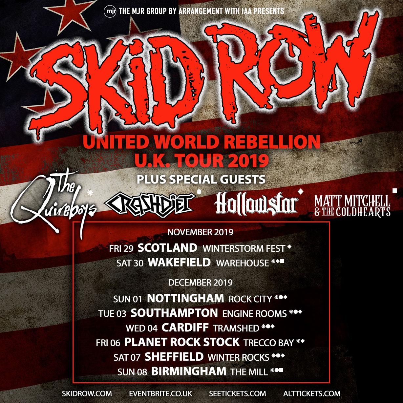 skid row uk tour 2019